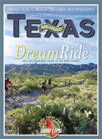 November 2009 cover image bicycle riding at Big Bend Ranch State Park