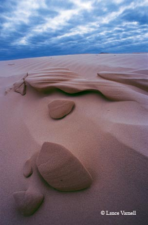 Sand takes on unusual shapes at Padre Island National Seashore.