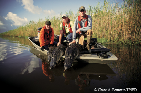 scott moore and spencer burke after their successful gator hunt